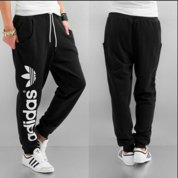 pants adidas sweats swag black jeans pockets new nice chill winter outfits