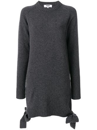 dress long women wool grey