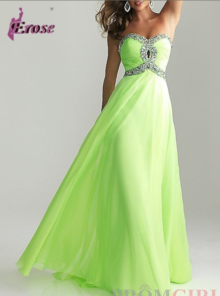 evening dress prom dresses 2014 long prom dresses bridesmaid dresses beaded prom dress green dress chiffon dress