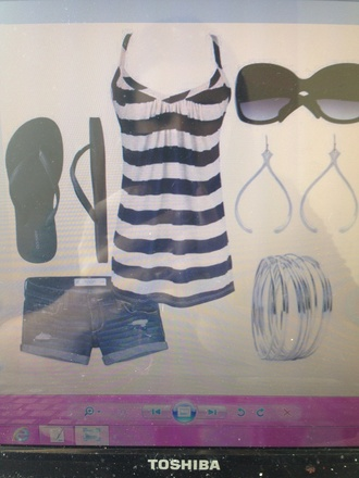 blouse t-shirt shirt tank top stripes blue and white striped