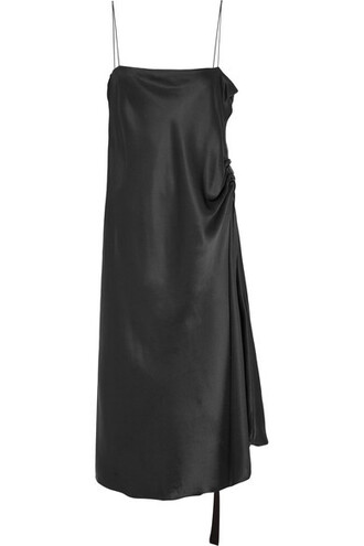 dress black dress midi dress spaghetti strap