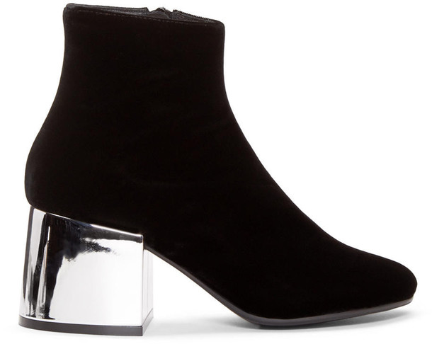 a1e91fe90c6d Mm6 Maison Margiela Mm6 Maison Margiela Black Velvet Metallic Boots