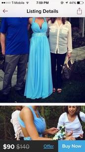 dress,prom,prom dress,blue,backless,dream