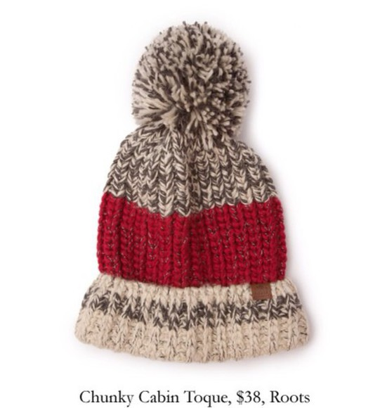 burgundy roots cabin chunky hat cabin toque pom pom beanie