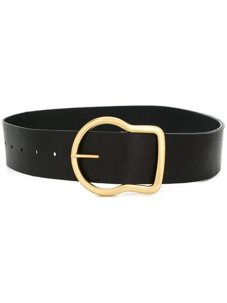 metallic belt black