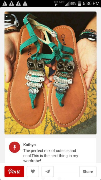 shoes owls sandals
