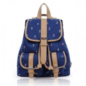 bag,backpack,blue,sweet,stylish