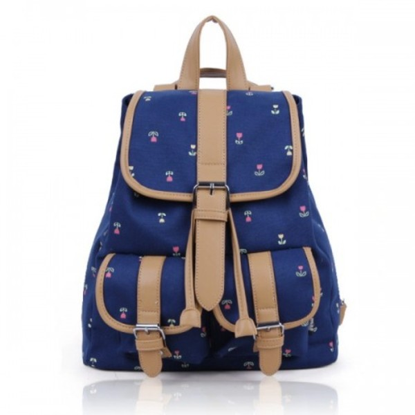 bag backpack blue sweet stylish