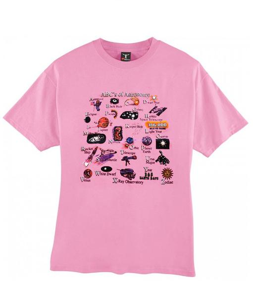 ABC's of astronomy t-shirt