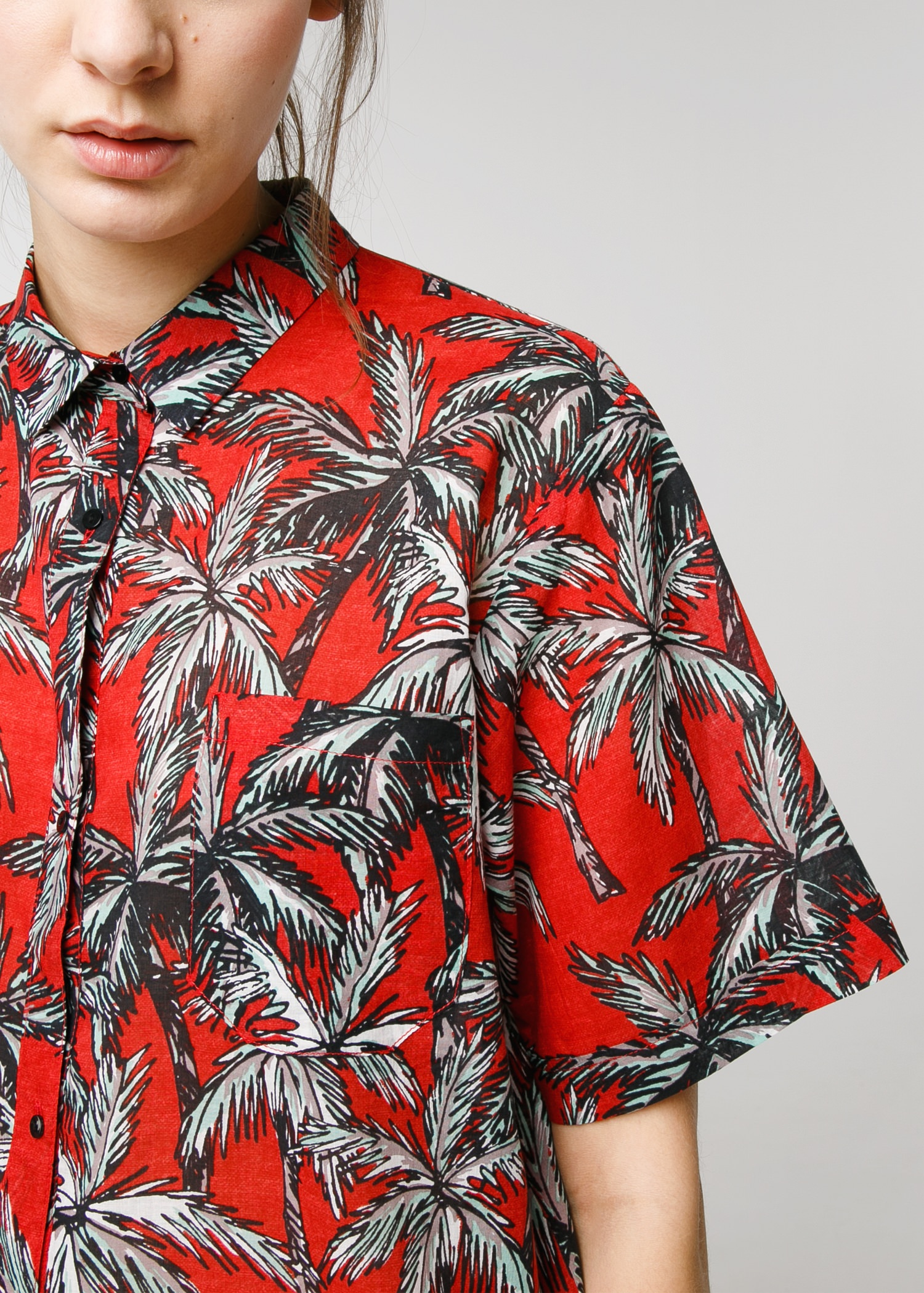 Palm print shirt - Women | MANGO