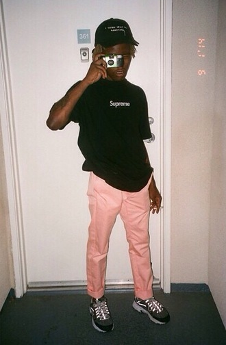 pants ian connor playboicarti vlone supreme asap mob pink pants asap rocky
