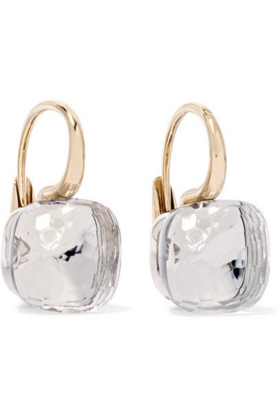 Pomellato - Nudo Classic 18-karat Rose And White Gold Topaz Earrings - Rose gold