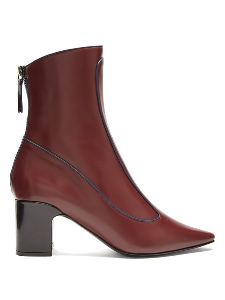 Fabrizio Viti leather ankle boots ankle boots leather burgundy shoes