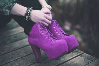 shoes heels high heels boots heel boots purple lace purple boots purple heels chunky chunky heels platform shoes platform heels platform boots pretty casual outerwear