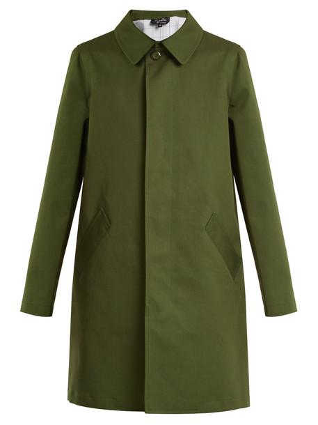 coat cotton green