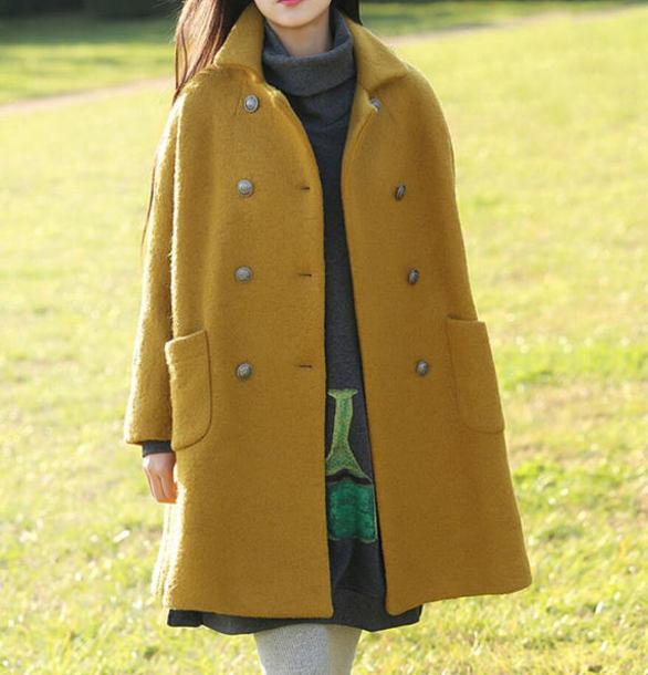 coat wool overcoat long wool overcoat