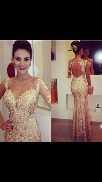 dress gold prom gold sequins prom dress long prom dress long sleeve dress bodycon dress bodycon