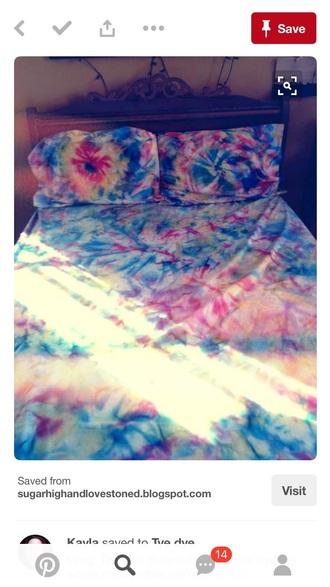 home accessory tie dye comforter