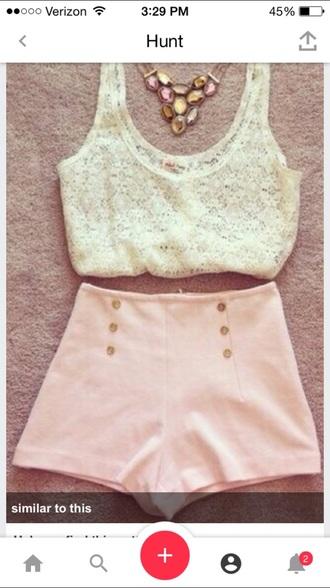 shorts cute shorts pink shorts