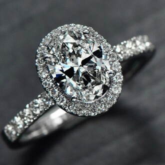 jewels oval cut diamond engagement ring halo engagement ring 3.5 ct big oval cut cubic zirconia synthetic diamond platinum plated engagement ring evolees.com