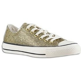 Amazon.com: Converse Women's All Star Chuck Taylor Party Sparkle Ox Casual Shoe Gold (9.5): Shoes
