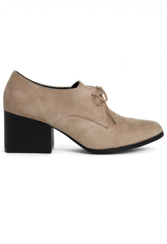 Faux Suede Pointed Shoes in Camel - Retro, Indie and Unique Fashion