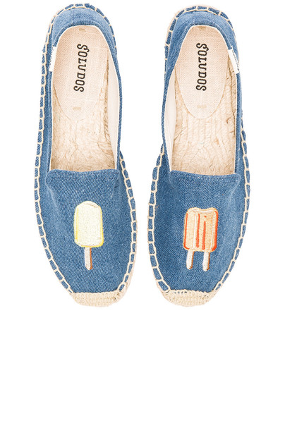 Soludos Popsicles Embroidered Smoking Slipper in blue