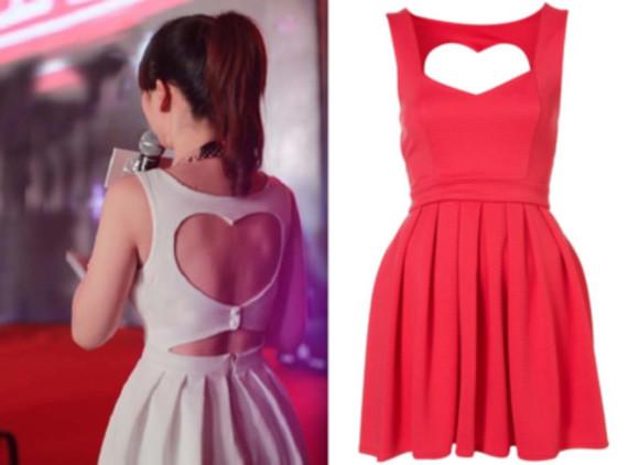 dress mini dress coctail dress heart