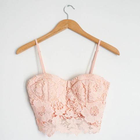 Pink Tank Top - Malibu Crochet Bustier | UsTrendy