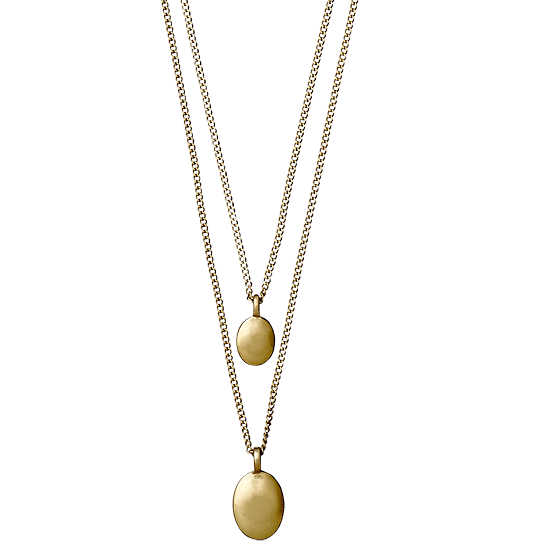 necklace, gold plated 50   55 cm