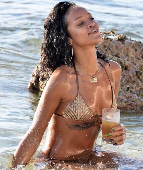 swimwear bikini beach style riri gold foil effortless stylish two peice