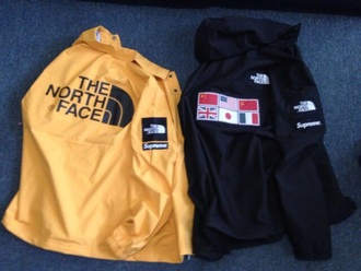 jacket coat north face yellow jacket black jacket windbreaker