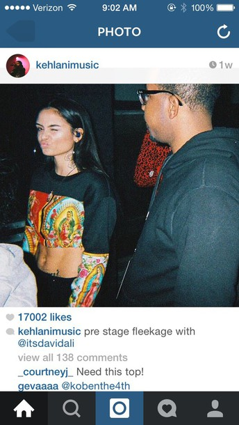 sweater kehlanimusic cropped sweater