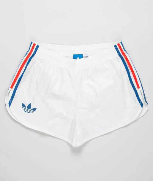 Shorts: adidas, blue, white, red, cute, workout, fitness - Wheretoget
