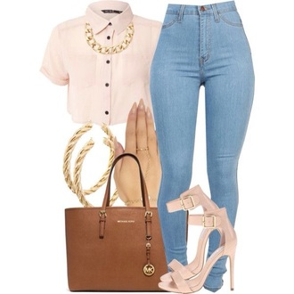 top blouse jeans shorts shoes skirt collared shirt crop top shirt crop tops collared shirts pastel pink fancy boxy