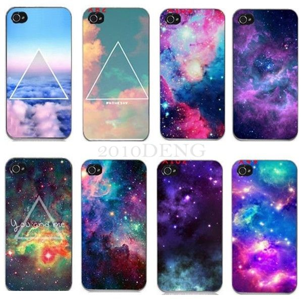 Galaxy space universe snap on back skin case cover for apple iphone 4 4s 5 5 5s