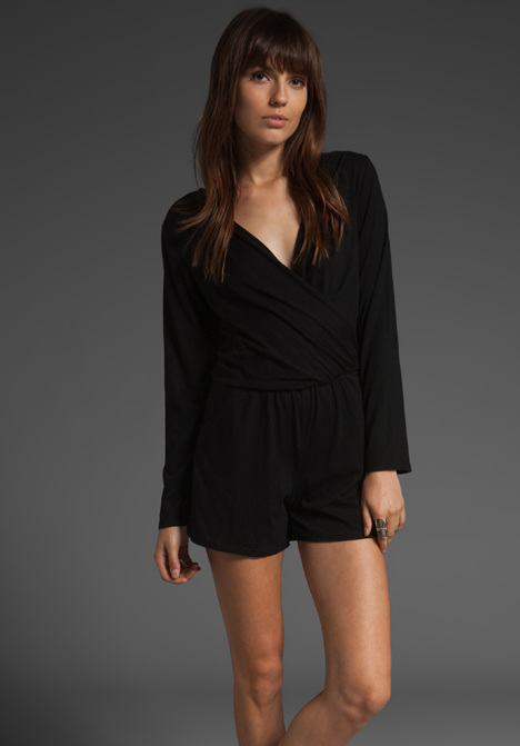 Krisa surplus romper in black at revolve clothing