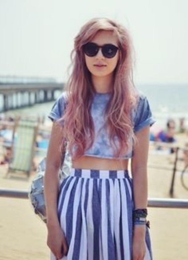 shirt skirt t-shirt crop tops sunglasses dress grunge crop top grunge skirt grunge streetstyle blue dress white dress