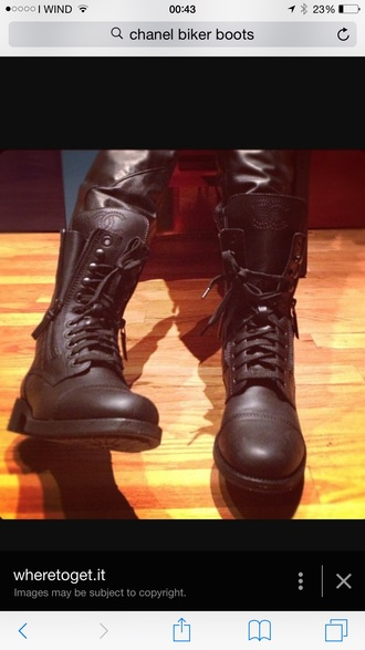 shoes chanel combat boots 2014
