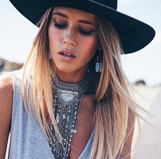 jewels gypsy boho silver necklace choker necklace necklace big necklace gypsy necklace boho necklace boho jewelry