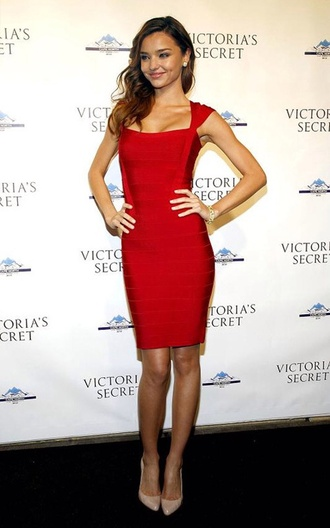 dress red dress red prom dress formal dress formal bodycon bandage dress red bandage dress miranda kerr cap sleeves herve leger
