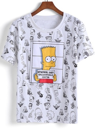 shirt the simpsons white t-shirt