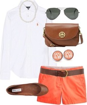 shorts,coral,ralph lauren