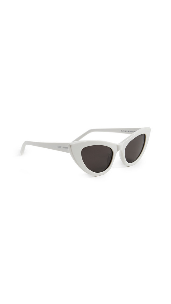 Saint Laurent SL 213 Lily Sunglasses in grey / ivory