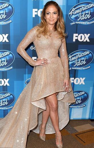 shoes gown sparkle sparkly dress pumps dress jennifer lopez