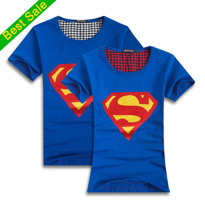 Superman t shirt lovers clothes women's men's casual o neck short sleeve t shirts for couples superman short sleeve t shirt