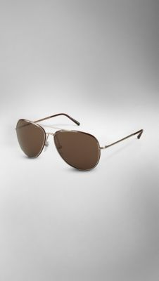 Metal Aviator Sunglasses | Burberry