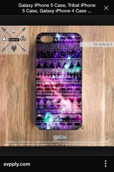 phone case galaxy print aztec multicoloured phone case iphone 4 case