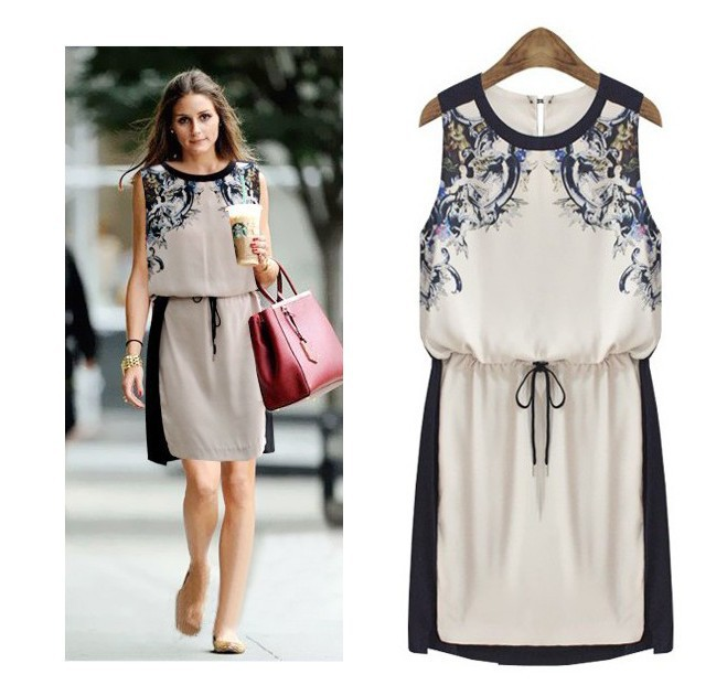 Aliexpress.com : Buy 2014 spring New fashion Europe  dress casual women Chiffon vestidos floral summer Ethnic  dress from Reliable dress up princess dress suppliers on Global Discover