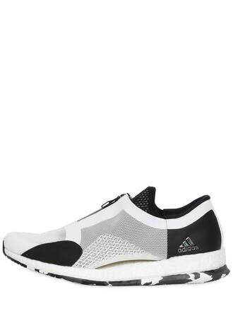 sneakers. zip sneakers white black shoes